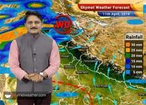 11 अप्रैल का मौसम पूर्वानुमान: कश्मीर और हिमाचल प्रदेश में बारिश जबकि पंजाब, हरियाणा, दिल्ली में आँधी-तूफान की आशंका