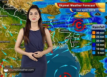 Weather Forecast for April 2: Heatwave in Barmer, Jaisalmer and Jalore, Rain in the Northeast India