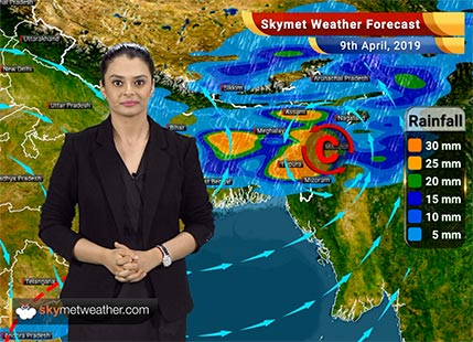 Weather Forecast for April 9: Rain in East and Northeast India, Central India to remain dry and hot