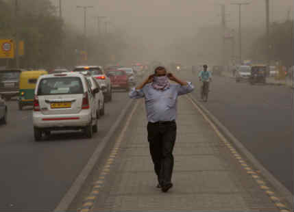 Dust storm in Delhi NCR