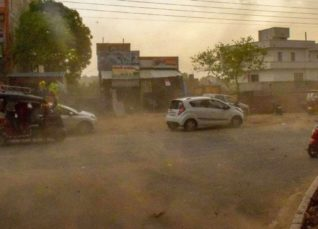 Duststorm and Rain in Punjab and Haryana