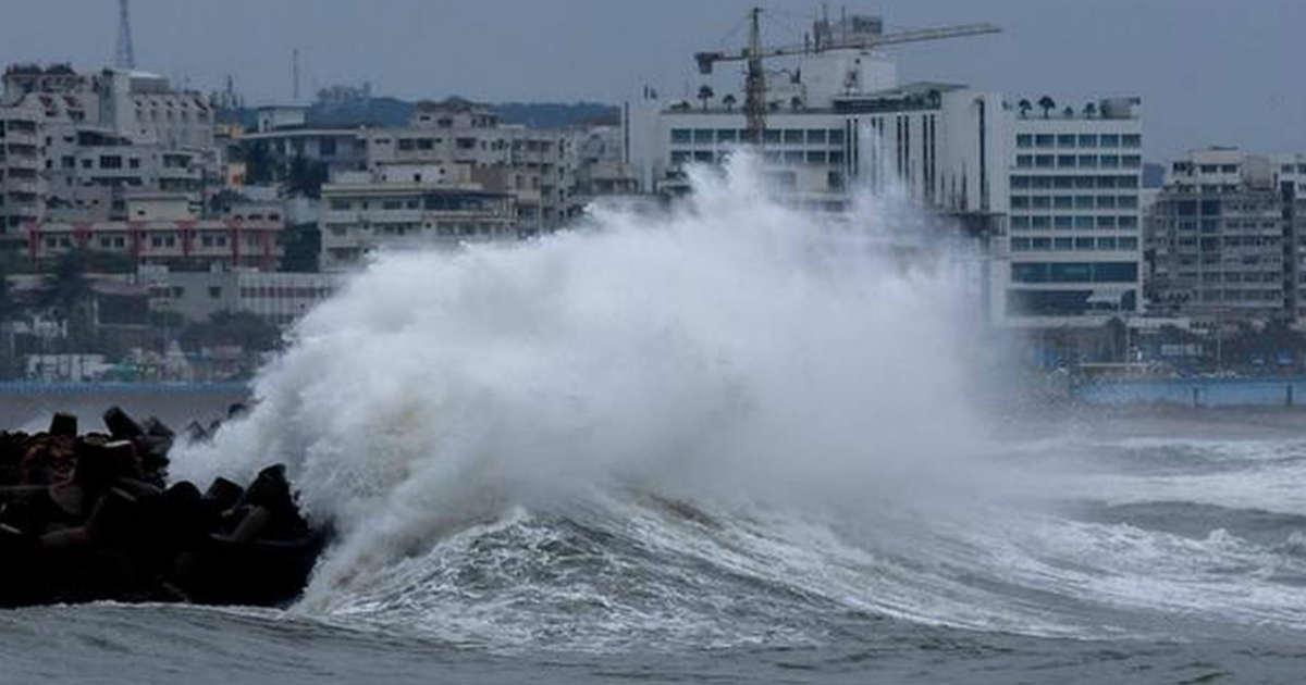 Cyclone Fani landfall