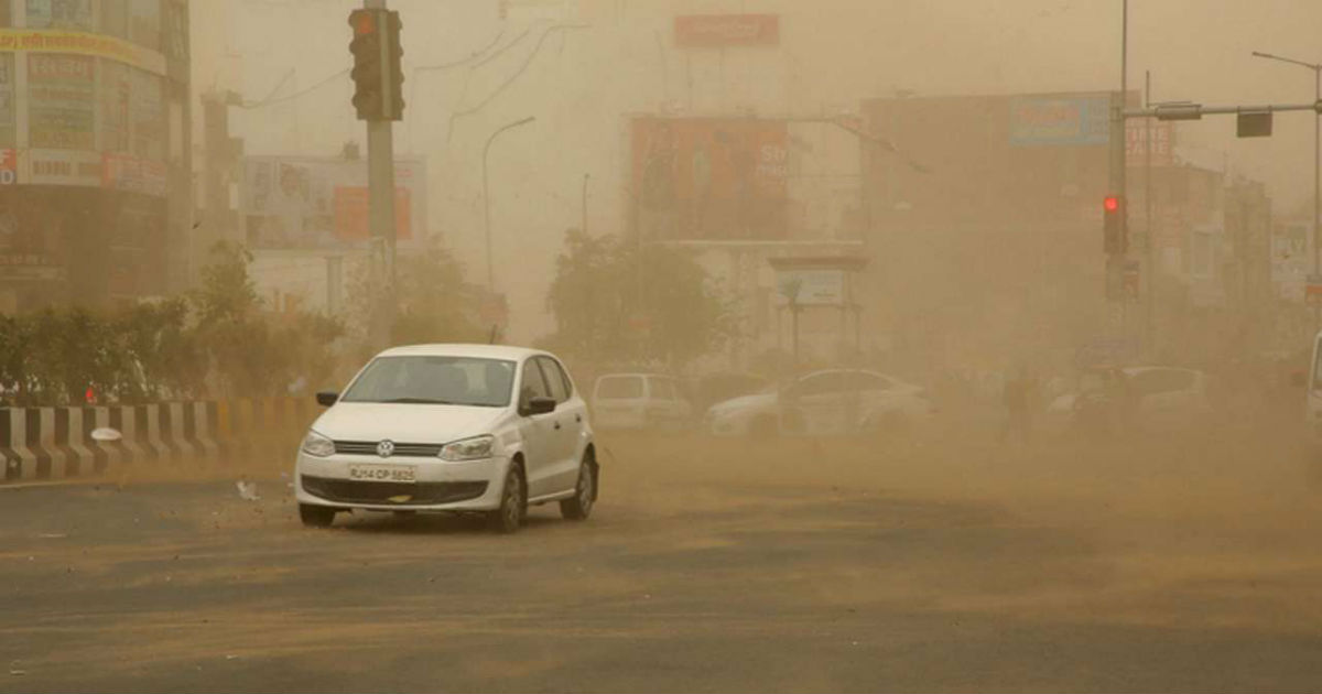 Dust storm in Central India