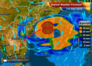 Weather Forecast for May 2: Extremely Severe Cyclone 'Fani' to give heavy rains over Odisha and Andhra Pradesh
