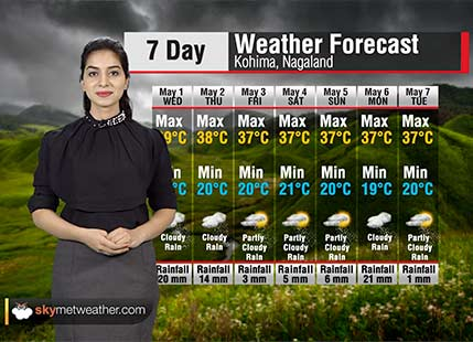 Weather Forecast for Nagaland from May 1 to May 7