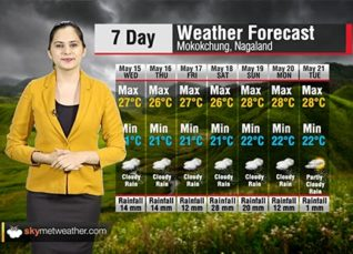 Weather Forecast for Nagaland from May 15 to 21