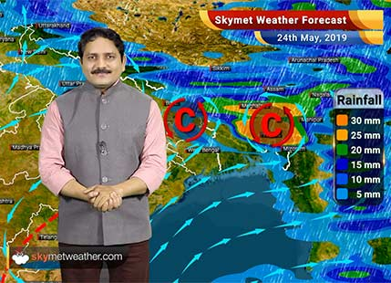 Weather Forecast for May 24: Light rain in Kashmir, Himachal while intense rains likely in Assam, Meghalaya and Tripura