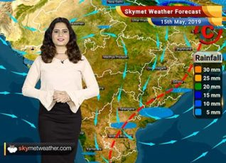 Weather Forecast for May 15: Rain in Andhra Pradesh and Tamil Nadu, dry weather in Gujarat