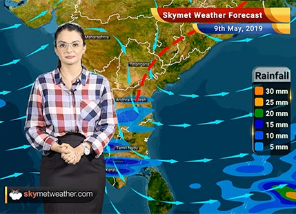 Weather Forecast May 9: Dry weather in Delhi and Central India, Andhra and Rayalaseema to receive pre-Monsoon showers