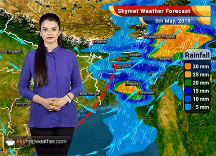 Weather Forecast May 5: Cyclone Fani weakens into a trough, heat wave type conditions in MP and Vidarbha