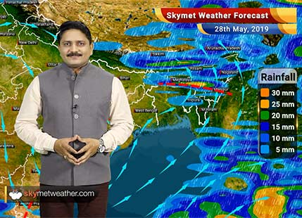 Weather Forecast for May 28: Rain in northeast and south India, heat wave to continue over central and northwest India