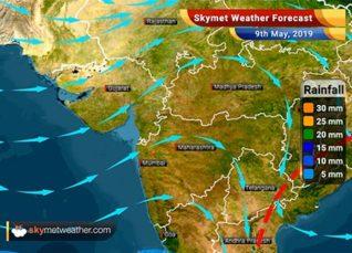 हवामान अंदाज 9 मे: मध्य भारत आणि दिल्ली मध्ये हवामान कोरडे; आंध्र प्रदेश मध्ये पाऊस