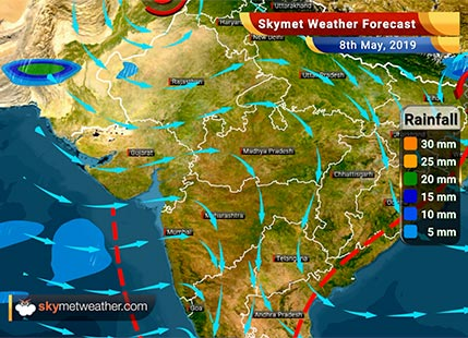 Weather Forecast for May 8: Rains likely in Tamil Nadu, Karnataka and Kerala, dry weather in Mumbai
