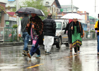 Rain in Jammu and Kashmir