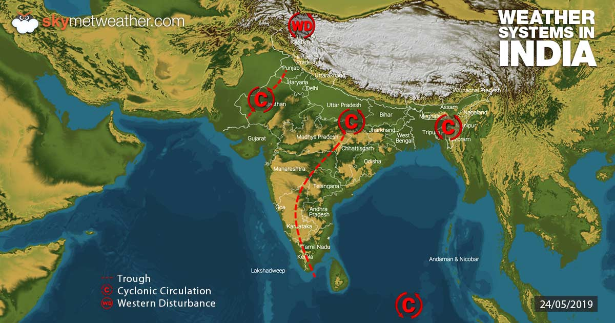 Weather forecast for India on May 26