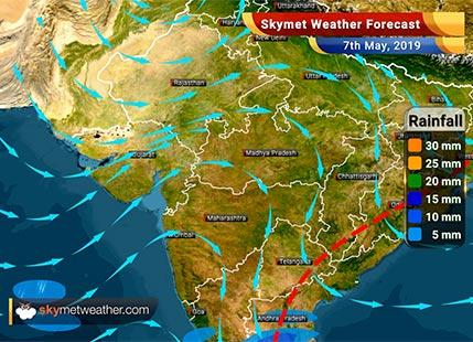 हवामान अंदाज 7 मे: मध्य आणि उत्तर पश्चिम भारतात उष्णतेची लाट, दक्षिण भारतात पाऊस