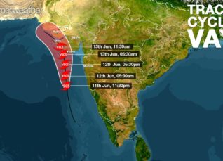 Cyclone Vayu Track
