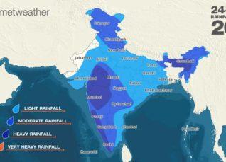 Rainfall forecast for India
