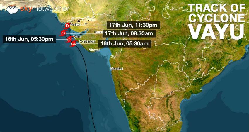 Cyclone Vayu Latest Track
