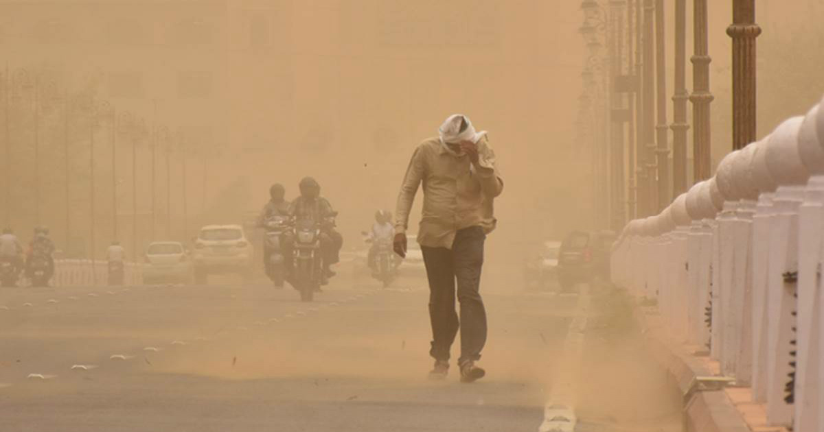 Rain and dust storm in Northwest India