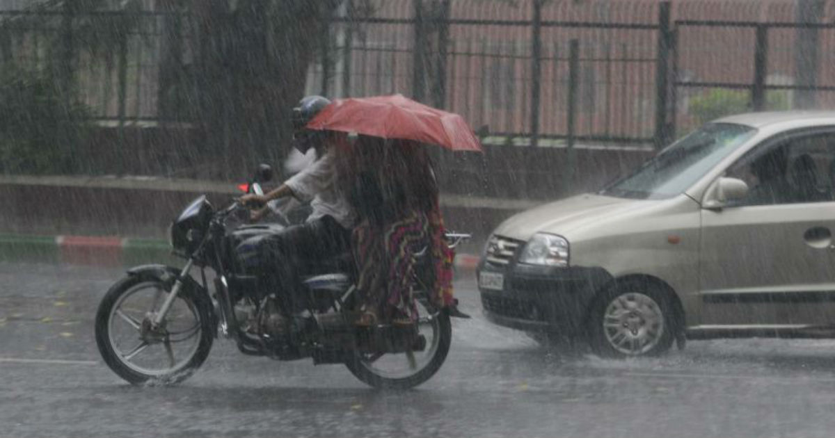 Monsoon rain in Karnataka and Kerala