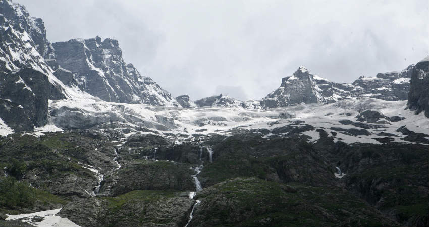 Himalayan glaciers melting, figures doubled