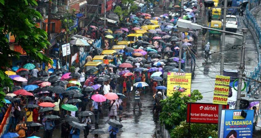 Rain in Odisha and West Bengal