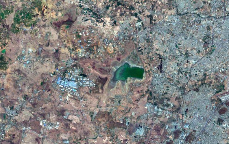 Drought in Chennai satellite image