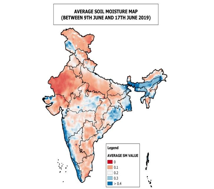 soil moisture in India