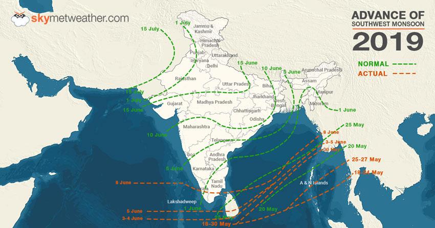 Monsoon reaches Kerala
