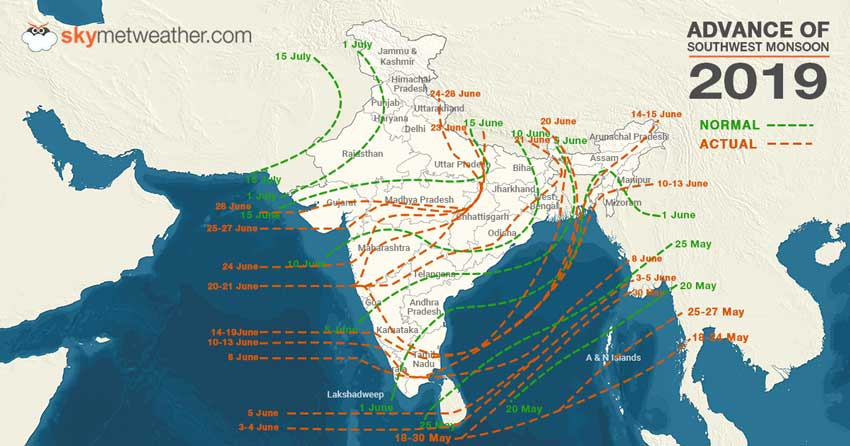 Monsoon Rainfall progress
