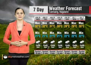 Weather Forecast for Nagaland from June 26 to July 2
