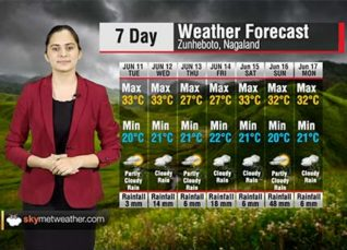 Weather Forecast for Nagaland from June 11 to June 17 | Skymet Weather