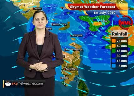 Weather Forecast July 1: Heavy rain in Odisha, Chhattisgarh, Madhya Pradesh, parts of West Bengal, Jharkhand
