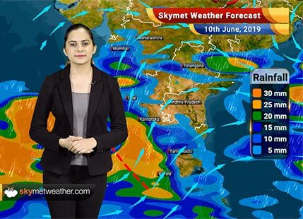 Weather Forecast June 10: Monsoon to progress further in Northeast India in next 24 hrs, rain in Kerala