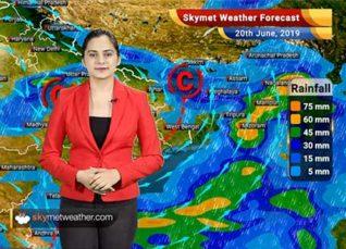 Weather Forecast June 20: Heavy rain in parts of West Bengal, Odisha, Chhattisgarh, Andhra, Kerala, Karnataka