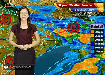 Weather Forecast for June 2: Heat Wave in the country, heavy rains in Northeast states