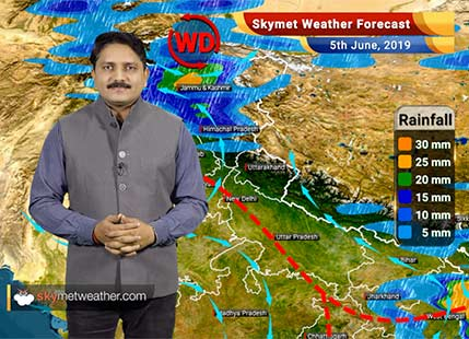 Weather Forecast for June 5: Pre-Monsoon rains to increase in Kerala, light rain also likely in Delhi, Haryana, Punjab