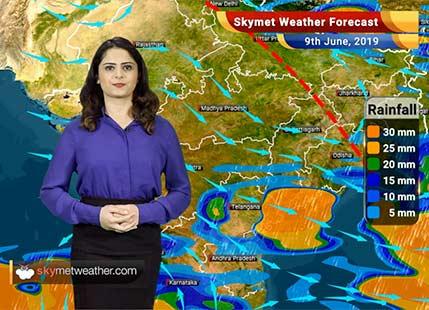 Weather Forecast for June 9: Southwest Monsoon 2019 hits Kerala, Rain in Vidarbha and South Maharashtra