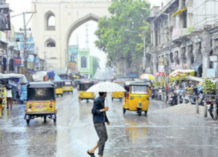 Rain in Telangana and Andhra Pradesh