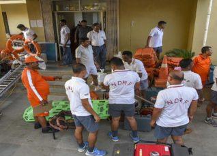 Evacuations ahead of Cyclone Vayu