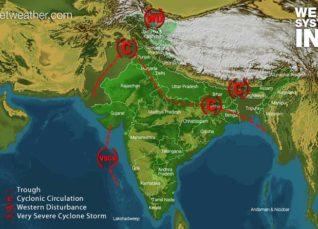 Weather across India on June 13