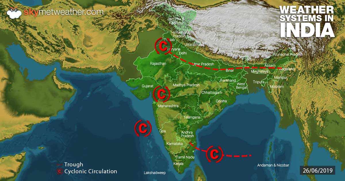 Weather-Systems-in-India-26-06-2019---1200