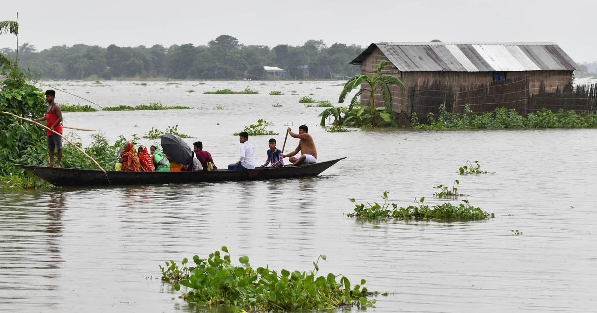 Floods in Assam. Northeast India