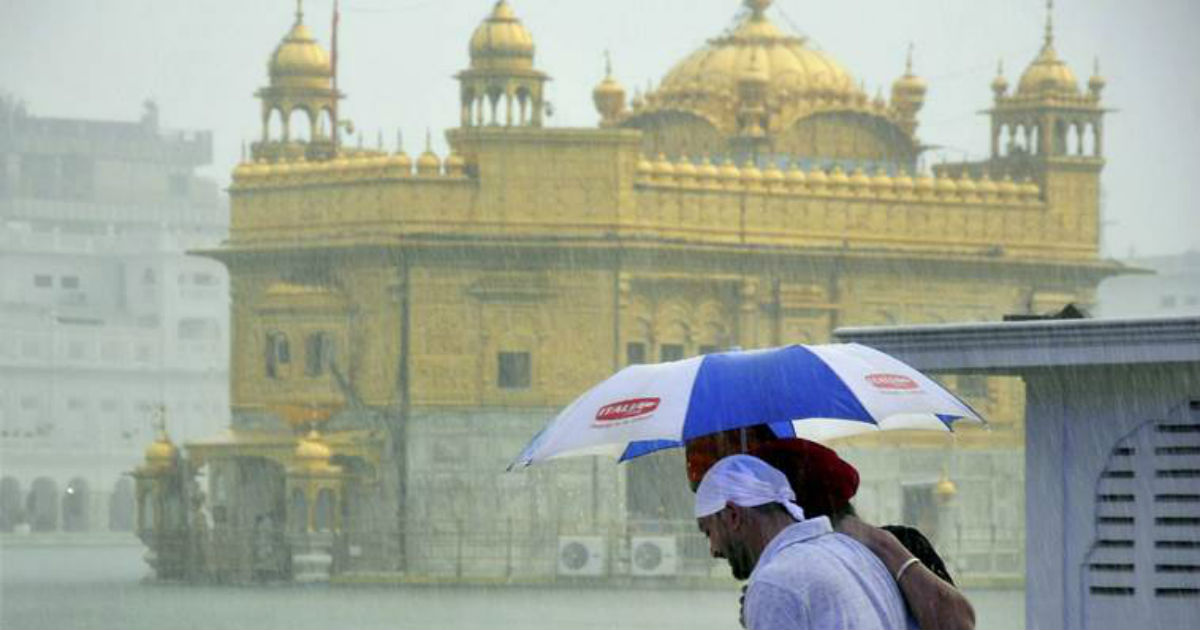 Monsoon rains in Amritsar