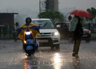 Monsoon rains in Delhi and NCR