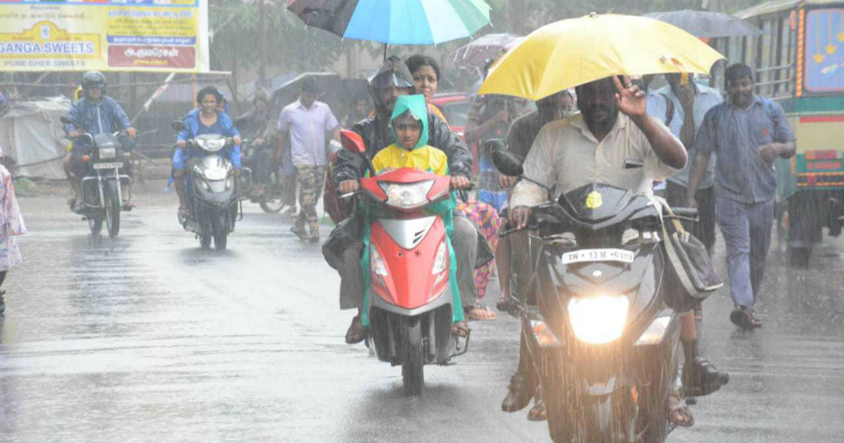Monsoon Rains in Chennai, Tamil Nadu