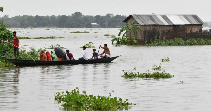 Floods in Assam. Northeast India