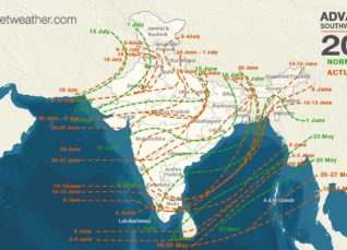 Monsoon in India, NLM showing Monsoon covers entire country