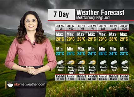 Weather Forecast for Nagaland from July 16 to July 22